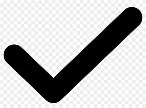 Black Tick Png - Round Check Mark, Transparent Png