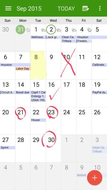 Using S Pen on calendar - Android Forums at AndroidCentral