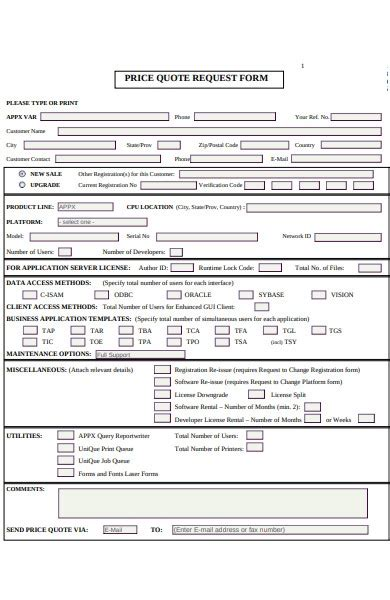 FREE 52+ Quote Forms in PDF   MS Word   Excel