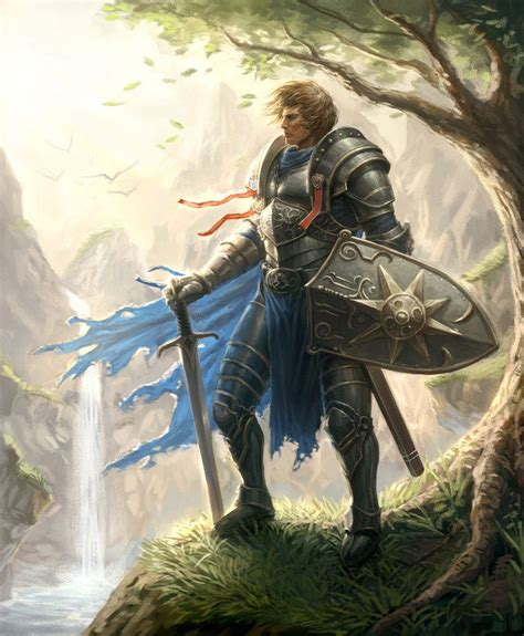 Character - Lord of valor, armored warrior with sword and