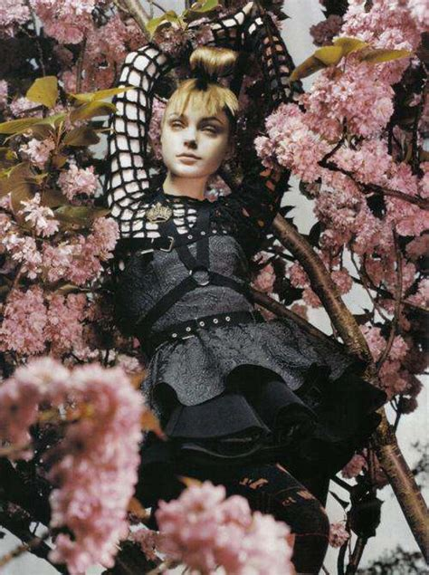 Floral Painting Editorials: Jessica Stam is a Flower in