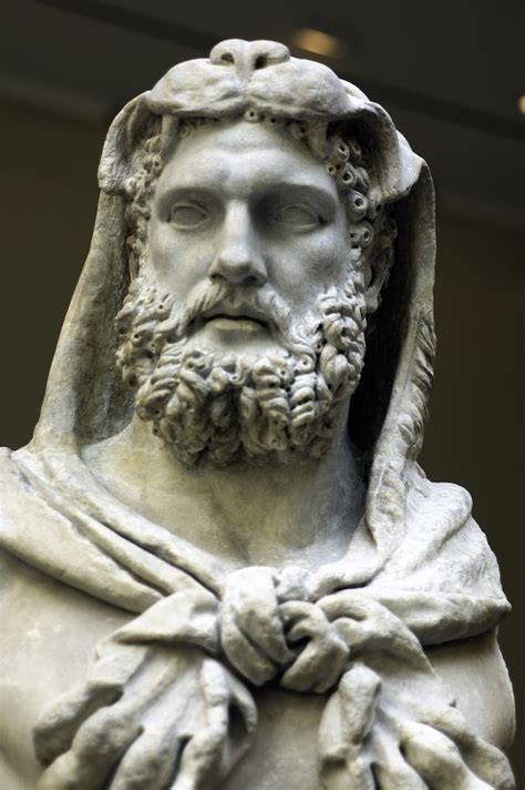 marble statue of a bearded hercules   AD 68-98 Source