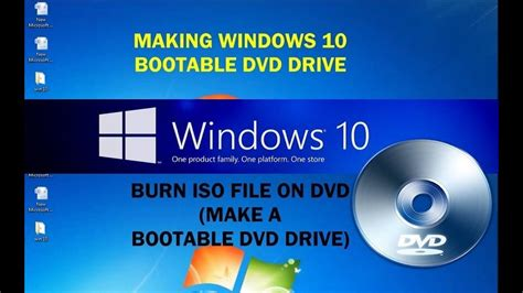 How to make bootable Windows 10 DVD Drive from ISO file
