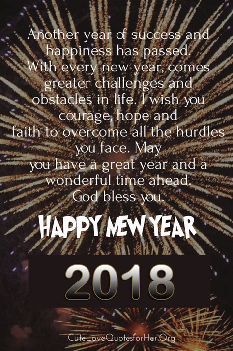Top 20 Happy New Years Eve Quotes 2018 - Share on Evening