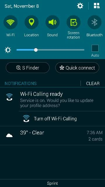 Removing the annoying WiFi calling notification from the