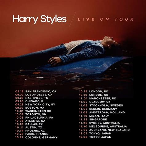 Want To Catch Harry Styles On Tour In 2017? See His Full