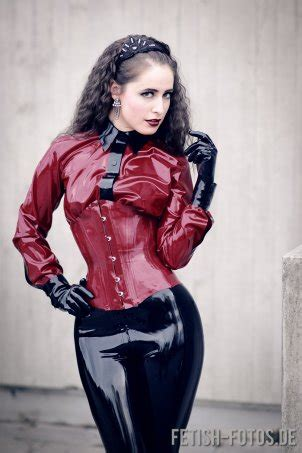 Latex Blouse Ally 2 with contrast