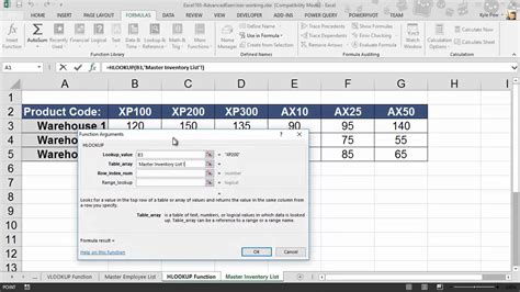 Microsoft Excel HLOOKUP Example - 01 - YouTube