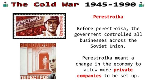 Changing Cold War Relations - 1980s changes in the ussr