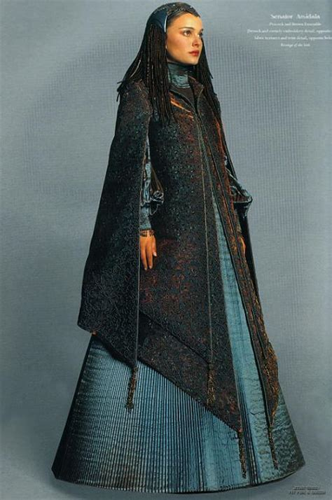 Mod The Sims - Padmé Naberrie peacock gown-cut from rots