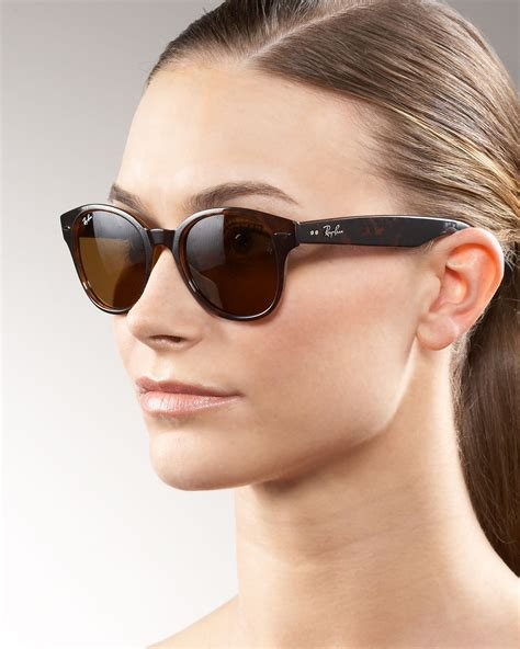 Lyst - Ray-Ban Large Rounded Wayfarer Sunglasses in Brown