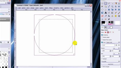 GIMP - Rectangle and Ellipse Select Tool