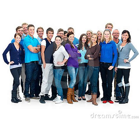 Supergroup - Many Different People Standing Stock Photo