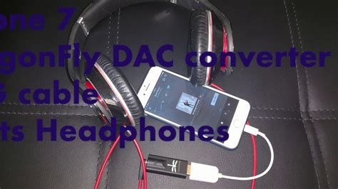 How to connect iPhone 7 with OTG cable for DAC - YouTube