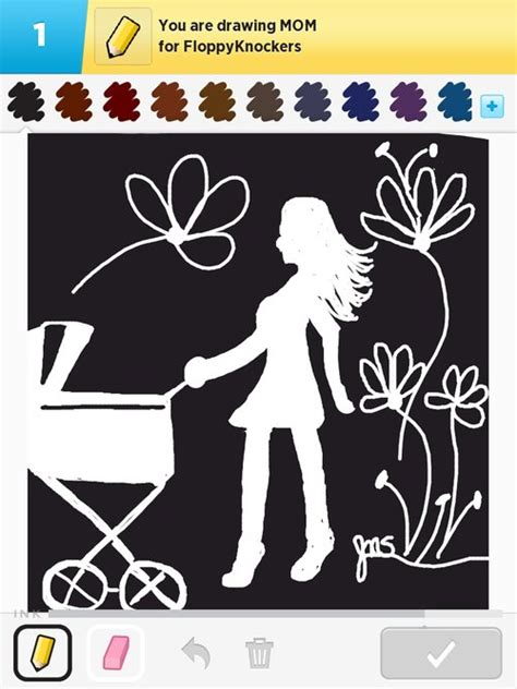 Mom Drawings - How to Draw Mom in Draw Something - The