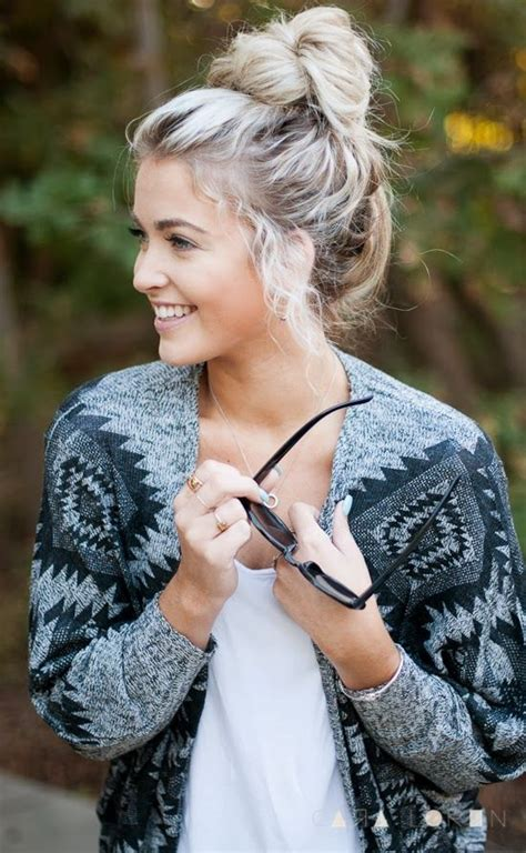 Casual-chic Top Knot Hairstyle for Every Woman and Every