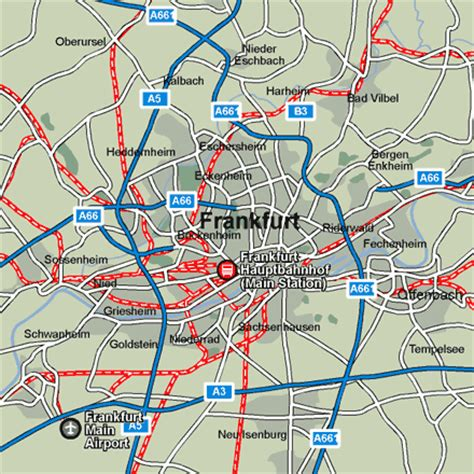 Frankfurt Rail Maps and Stations from European Rail Guide