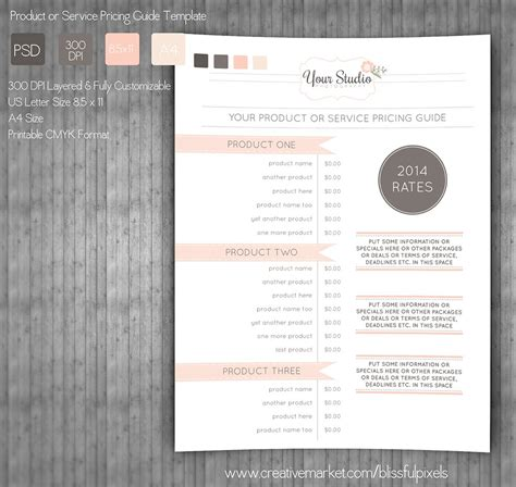 Pricing Guide Template ~ Stationery Templates ~ Creative