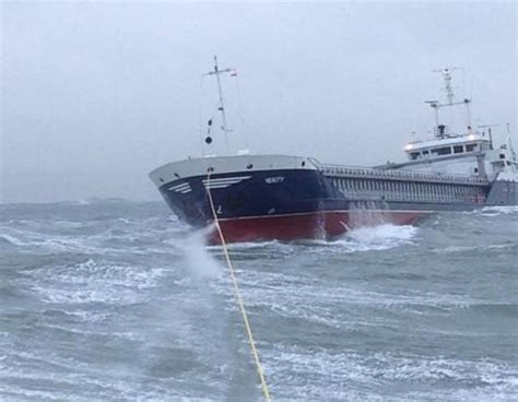 Drifting cargo ship Verity rescued in rough seas off North