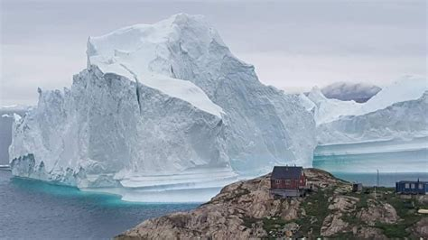 A Giant Iceberg Parked Offshore