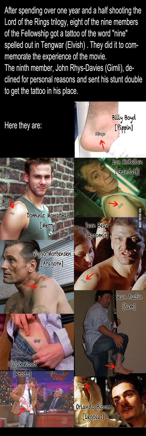 The actors in LOTR matching tattoos | The Hobbit & LOTR