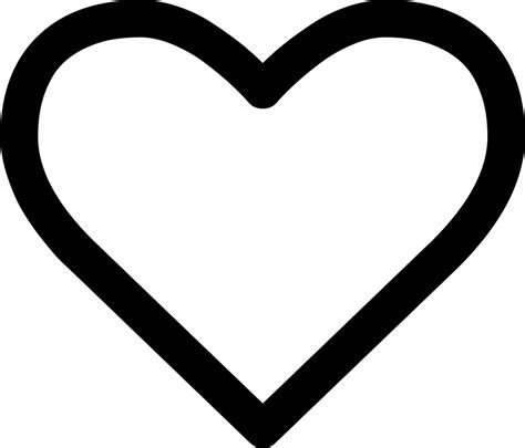 Heart Outline Svg Png Icon Free Download (#264204