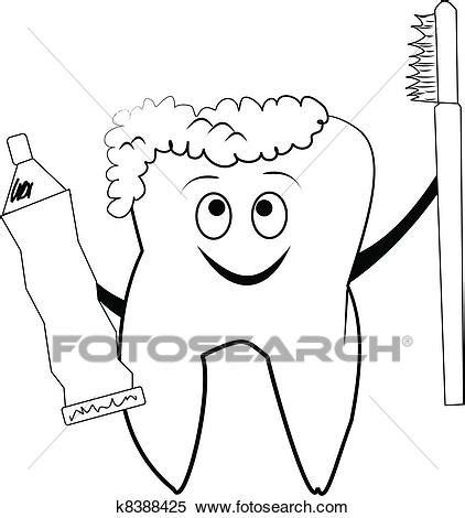 Smiley tooth Clipart | k8388425 | Fotosearch