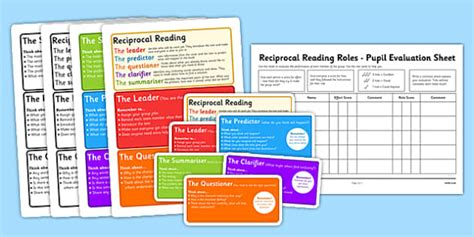 Guided Reading Role Cards - reading, role cards, guided