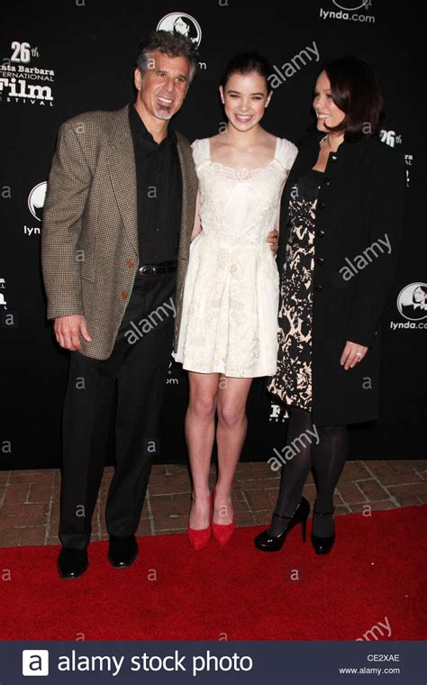 Hailee Steinfeld and her parents Pete Steinfeld and Cheri
