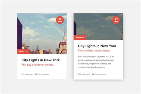 10 Free Code Snippets for Creating CSS Content Cards