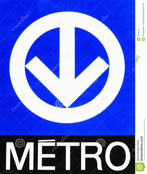 Montreal Metro (subway) Sign Stock Images - Image: 3413154