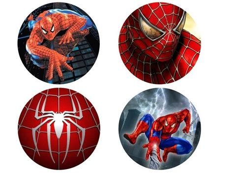 24 x 38mm Spiderman PRE CUT Fairy Muffin Cup Cake Toppers