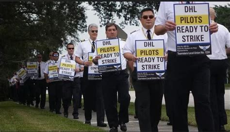 Pilots for Spirit Airlines and DHL contract carriers